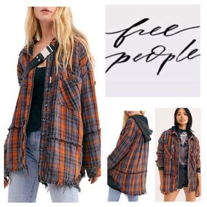 Free People Calico Basin Hoodie Tunic.  NWT.